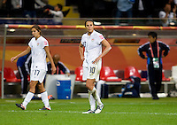 Carli Lloyd,  Tobin Heath.  Japan won the FIFA Women's World Cup on penalty kicks after tying the United States, 2-2, in extra time at FIFA Women's World Cup Stadium in Frankfurt Germany.