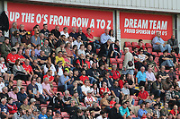 Orient fans during Leyton Orient vs Oldham Athletic, Sky Bet EFL League 2 Football at The Breyer Group Stadium on 11th September 2021