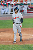 John Sansone (26) of the Billings Mustangs at bat against the Orem Owlz in Game 2 of the Pioneer League Championship at Home of the Owlz on September 16, 2016 in Orem, Utah. Orem defeated Billings 3-2 and are the 2016 Pioneer League Champions. (Stephen Smith/Four Seam Images)
