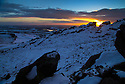 04/02/15<br /> <br /> With no end in sight for the freezing conditions gripping the country an awe-inspiring sunset signals the start of another cold night over The Roaches in the Staffordshire Peak District near Leek.<br /> <br /> All Rights Reserved - F Stop Press.  www.fstoppress.com. Tel: +44 (0)1335 418629 +44(0)7765 242650