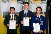 Boys Cricket finalista Craig Cachopa, James Neesham & Jono Hickey. ASB College Sport Young Sportperson of the Year Awards 2008 held at Eden Park, Auckland, on Thursday November 13th, 2008.