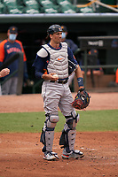 Houston Astros catcher Jason Castro (18) during a Major League Spring Training game against the St. Louis Cardinals on March 20, 2021 at Roger Dean Stadium in Jupiter, Florida.  (Mike Janes/Four Seam Images)