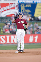 July 4, 2009: Yakima Bears third baseman Matthew Davidson, the Arizona Diamondbacks first pick in the Compensation-A round, flashes the outs to the third base coach during a Northwest League game against the Everett AquaSox at Everett Memorial Stadium in Everett, Washington.