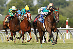 July 12, 2014: Hardest Core, Eriluis Vaz up, wins the Cape Henlopen Stakes at Delaware Park in Stanton Delaware. Trainer is Edward Graham; owner is Andrew Bentley Stables. © Joan Fairman Kanes/ESW/CSM