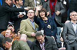 Motherwell v St Johnstone.....16.04.11  Scottish Cup Semi-Final.Sonia Johnson and partner?.Picture by Graeme Hart..Copyright Perthshire Picture Agency.Tel: 01738 623350  Mobile: 07990 594431