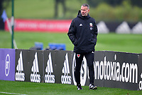 Ryan Giggs, Manager of Wales during the Wales Training Session at The Vale Resort in Cardiff, Wales, UK. Monday 5 October 2020