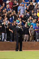 Chief Petty Officer, Stephen Powell performs the National Anthem before the Fall Stars game at Surprise Stadium on November 3, 2018 in Surprise, Arizona. The AFL West defeated the AFL East 7-6 . (Zachary Lucy/Four Seam Images)