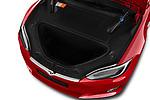 Car Stock 2019 Tesla Model-S 100D 5 Door Hatchback Engine  high angle detail view