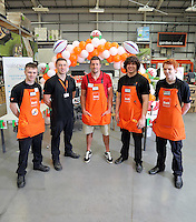 Justin Tipuric (C) with L-R Rhys Evans, Richard Weeks, Riccardo Lewis and Rhys Davies