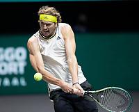 Rotterdam, The Netherlands, 3 march  2021, ABNAMRO World Tennis Tournament, Ahoy, First round match: Alexander Zwerev (GER).<br /> Photo: www.tennisimages.com/henkkoster