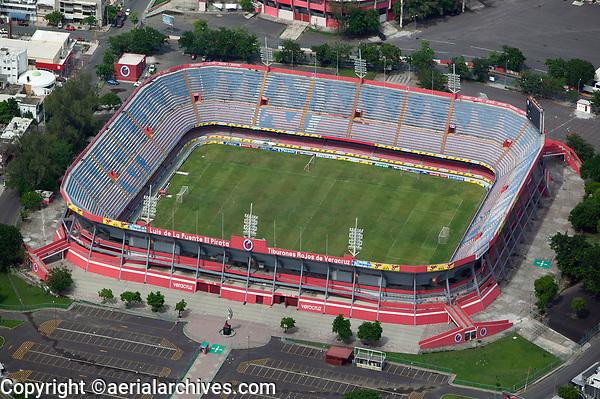 aerial photograph of the Estadio Luis de La Fuente, El Pirata soccer stadium, Veracruz, Mexico