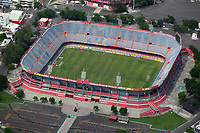 aerial photograph of the Estadio Luis de La Fuente, El Pirata soccer stadium, Veracruz, Mexico