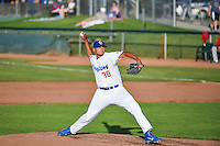 Ogden Raptors starting pitcher William Soto (38) delivers a pitch to the plate against the Orem Owlz in Pioneer League action at Lindquist Field on June 18, 2015 in Ogden, Utah.  This was Opening Night play of the 2015 Pioneer League season. (Stephen Smith/Four Seam Images)