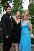 ATWT's Terri Colombino & hubby Artie and Terri's mom Kathy at the 16th Annual Feast with Famous Faces to benefit the League for the Hard of Hearing on October 27, 2008 at Pier Sixty at Chelsea Piers, New York City, New York. (Photo by Sue Coflin/Max Photos)