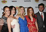 HOLLYWOOD, CA - AUGUST 23: Lizzy Caplan, Kirsten Dunst, Isla Fisher and Adam Scott arrive at the Los Angeles premiere of 'Bachelorette' at the Arclight Hollywood on August 23, 2012 in Hollywood, California. /NortePhoto.com.... **CREDITO*OBLIGATORIO** *No*Venta*A*Terceros*..*No*Sale*So*third* ***No*Se*Permite*Hacer Archivo***No*Sale*So*third*