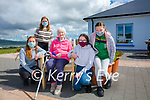 Margaret O'Shea a resident at Valentia Island Community Hospital receives a visit from her Grandchildren pictured here l-r; Aisling & Ruth O'Shea with Saoirse & Saibh King.