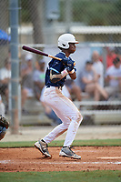 TJ McCants (24) during the WWBA World Championship at the Roger Dean Complex on October 10, 2019 in Jupiter, Florida.  TJ McCants attends Pensacola Catholic High School in Cantonment, FL and is committed to Mississippi.  (Mike Janes/Four Seam Images)
