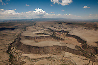 aerial photograph of Jemez River and canyons north of Albuquerque, New Mexico