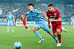 Shanghai FC Forward Elkeson De Oliveira Cardoso (R) fights for the ball with Jiangsu FC Midfielder Zhang Xiaobin (L) during the AFC Champions League 2017 Round of 16 match between Jiangsu FC (CHN) vs Shanghai SIPG FC (CHN) at the Nanjing Olympic Stadium on 31 May 2017 in Nanjing, China. Photo by Marcio Rodrigo Machado / Power Sport Images