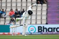 Devon Conway, New Zealand takes a blow from Jasprit Bumrah during India vs New Zealand, ICC World Test Championship Final Cricket at The Hampshire Bowl on 20th June 2021