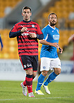 Dave Mackay Testimonial: St Johnstone v Dundee…06.10.17…  McDiarmid Park… <br />Legends Peter MacDonald and Jody Morris<br />Picture by Graeme Hart. <br />Copyright Perthshire Picture Agency<br />Tel: 01738 623350  Mobile: 07990 594431
