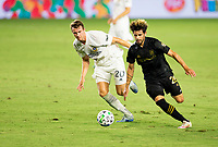 CARSON, CA - SEPTEMBER 06: Adrien Perez #26 of the LAFC moves with the ball during a game between Los Angeles FC and Los Angeles Galaxy at Dignity Health Sports Park on September 06, 2020 in Carson, California.