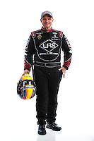 Feb 8, 2017; Pomona, CA, USA; NHRA funny car driver Tim Wilkerson poses for a portrait during media day at Auto Club Raceway at Pomona. Mandatory Credit: Mark J. Rebilas-USA TODAY Sports