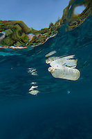 A plastic bottle floats in the water by Similan islands, a Thai national park in the Andaman sea..©Fredrik Naumann/Felix Features.