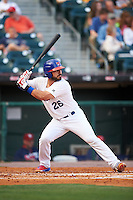 Buffalo Bisons catcher Tony Sanchez (26) at bat during a game against the Lehigh Valley IronPigs on July 9, 2016 at Coca-Cola Field in Buffalo, New York.  Lehigh Valley defeated Buffalo 9-1 in a rain shortened game.  (Mike Janes/Four Seam Images)