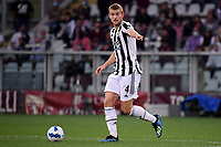 Matthijs de Ligt of Juventus FC in action during the Serie A 2021/2022 football match between Torino FC and Juventus FC at Stadio Olimpico Grande Torino in Turin (Italy), October 2nd, 2021. Photo Federico Tardito / Insidefoto