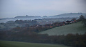 01/05/16<br /> <br /> Frost and mist cling the hills around Ashbourne, in the Derbyshire Peak District after overnight temperatures dropped below zero on the first day of May.  <br /> <br /> <br /> All Rights Reserved: F Stop Press Ltd. +44(0)1335 418365   www.fstoppress.com.