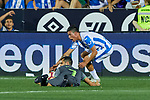 Leganes' Jonathan Cristian Silva and Real Sociedad's Juan Miguel Jimenez during La Liga match. August 24, 2018. (ALTERPHOTOS/A. Perez Meca)