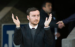St Johnstone v Hearts…05.04.17     SPFL    McDiarmid Park<br />Hearts boss Ian Cathro applauds the fans<br />Picture by Graeme Hart.<br />Copyright Perthshire Picture Agency<br />Tel: 01738 623350  Mobile: 07990 594431