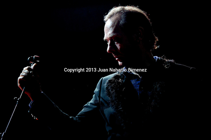 British singer Peter Murphy performs on stage at Sala Arena on May 29, 2013 in Madrid, Spain. (Photo by Juan Naharro Gimenez)
