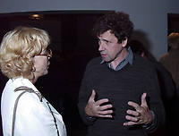 Montreal, 1999-08-29.	Swedish actress and President of this year jury ; Bibi Andersson talking with Irish actor and Jury member, Stephen Rea at the party organised tonight (August 29) to celebrate Irish cinema presence at the World Film Festival. Irish cinema has the honor of beeing the subject of this year focus. More than 12  films from Ireland are presented.<br /> Photo : (c) Pierre Roussel, 1999<br /> KEYWORDS :  Bibi Andersson, Stephen Rea, Celebrities, World Film Festival, Montreal, Canada