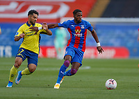 5th September 2020; Selhurst Park, London, England; Pre Season Friendly Football, Crystal Palace versus Brondby; Wilfried Zaha of Crystal Palace is challenged by Rezan Corlu of Brondby