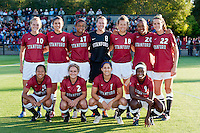 STANFORD, CA - August 19, 2011: Stanford defeats Penn State 4-0 in its season opening women's soccer match in Stanford, California.