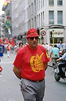 - general strike of the metal and mechanics workers ....- sciopero generale e manifestazione operai metalmeccanici FIOM