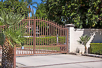 Entry gate to gated community