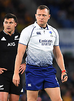 2nd October 2021, Cbus Super Stadium, Gold Coast, Queensland, Australia;   Match referee Matthew Carley.New Zealand All Blacks versus South Africa Springboks. The Rugby Championship. Rugby Union test match.