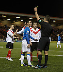 Ian Black gets booked