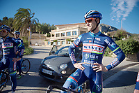 Antoine Demoitié (BEL/Wanty-Groupe Gobert) during a training break<br /> <br /> Pro Cycling Team Wanty-Groupe Gobert <br /> <br /> Pre-season Training Camp january 2016
