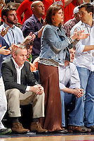 CHARLOTTESVILLE, VA- JANUARY 7: Virginia Cavalier fans John and Renee Grisham cheers on the team during the game against the Miami Hurricanes on January 7, 2012 at the John Paul Jones Arena in Charlottesville, Virginia. Virginia defeated Miami 52-51. (Photo by Andrew Shurtleff/Getty Images) *** Local Caption *** John Grisham;Renee Grisham