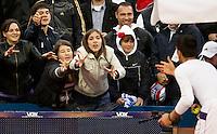 Tenis, Serbia Open 2011.Final.Novak Djokovic (SRB) Vs. Feliciano Lopez (ESP).Novak Djokovic with fans.Beograd, 01.05.2011..foto: Srdjan Stevanovic