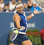 Victoria Azarenka (BLR) defeats Aleksandra Krunic (SRB) 4-6, 6-4, 6-4 at the US Open being played at USTA Billie Jean King National Tennis Center in Flushing, NY on September 1, 2014