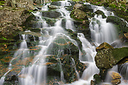 "Cascade on Walker Brook in North Woodstock, New Hampshire during the spring months. Some locals refer to this series of cascades on Walker Brook as ""Airmen Falls"", but this is not the official name of them."