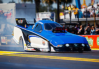 Mar 16, 2018; Gainesville, FL, USA; NHRA funny car driver Gary Densham during qualifying for the Gatornationals at Gainesville Raceway. Mandatory Credit: Mark J. Rebilas-USA TODAY Sports