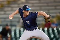 Tampa Tarpons pitcher Danny Watson (45) during Game Two of the Low-A Southeast Championship Series against the Bradenton Marauders on September 22, 2021 at LECOM Park in Bradenton, Florida.  (Mike Janes/Four Seam Images)