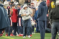 FOXBOROUGH, MA - OCTOBER 27: New England coach Bill Belichick during a game between Cleveland Browns and New Enlgand Patriots at Gillettes on October 27, 2019 in Foxborough, Massachusetts.