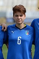20180302 - LARNACA , CYPRUS : Italian Manuela Giugliano pictured during a women's soccer game between Italy and Wales , on friday 2 March 2018 at GSZ Stadium in Larnaca , Cyprus . This is the second game in group A for Italy and Wales during the Cyprus Womens Cup , a prestigious women soccer tournament as a preparation on the World Cup 2019 qualification duels. PHOTO SPORTPIX.BE | DAVID CATRY